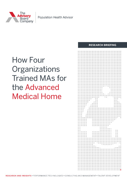 How 4 organizations trained Mas for the Advanced Medical Home